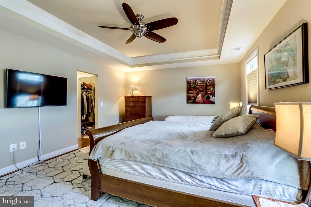 Primary Bedroom features a Tray Ceiling - 100 PEARL ST, HERNDON