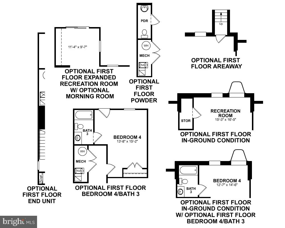 First Level Floor Plan - Options - 123 BARNWELL DR, STAFFORD
