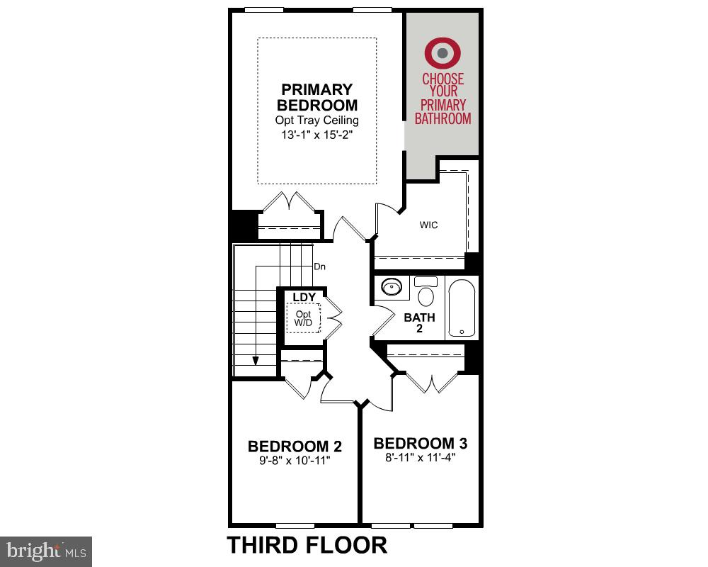 Third Level Floor Plan - 123 BARNWELL DR, STAFFORD