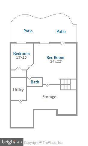 Lower Level Floor Plan - 18459 LANIER ISLAND SQ, LEESBURG