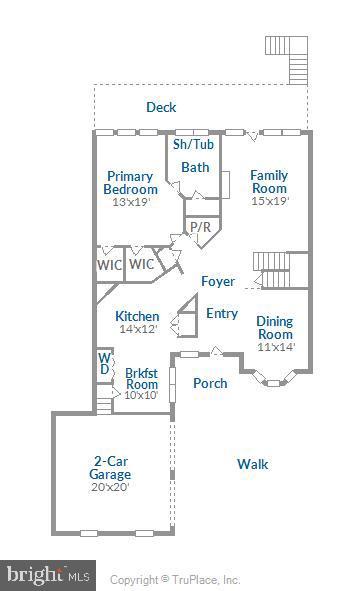 Main Level Floor Plan - 18459 LANIER ISLAND SQ, LEESBURG