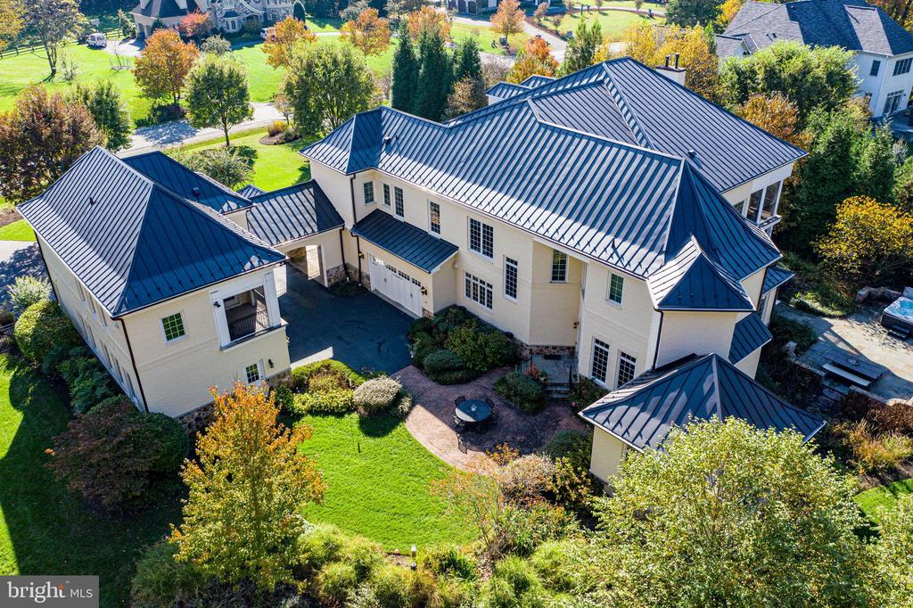 Aerial view of motor court - 10464 SPRINGVALE MEADOW LN, GREAT FALLS