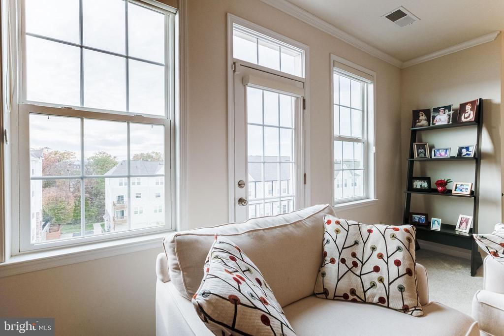 Living room with wall of windows - 24677 LYNETTE SPRINGS TER #302, ALDIE