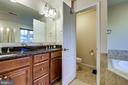 Master Bath and water closet - 5408 BANTRY CT, WOODBRIDGE