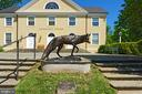 New sculpture at the front of the Community Center - 501 W WASHINGTON ST, MIDDLEBURG