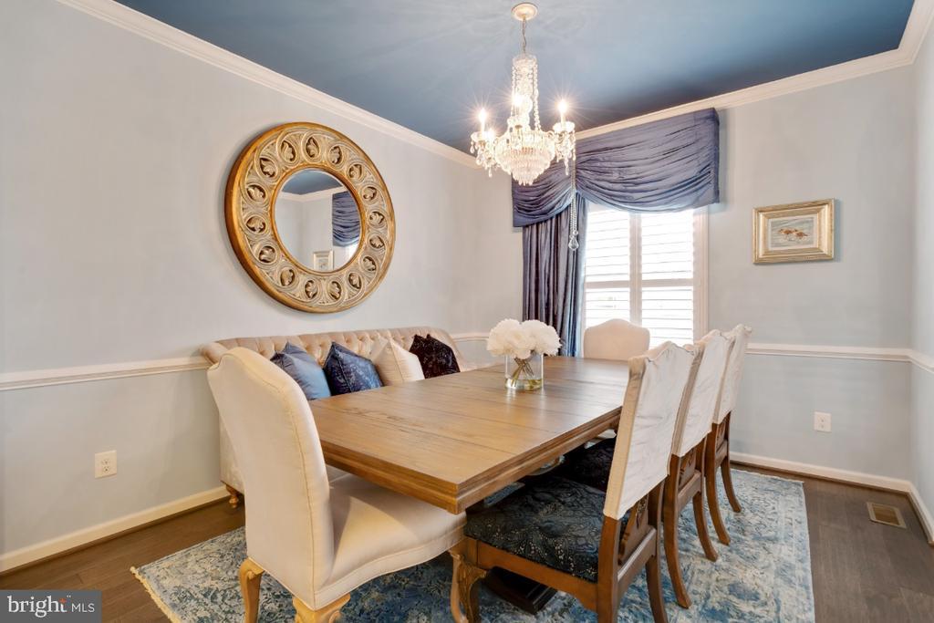 Formal dining room - 12377 MAYS QUARTER RD, WOODBRIDGE