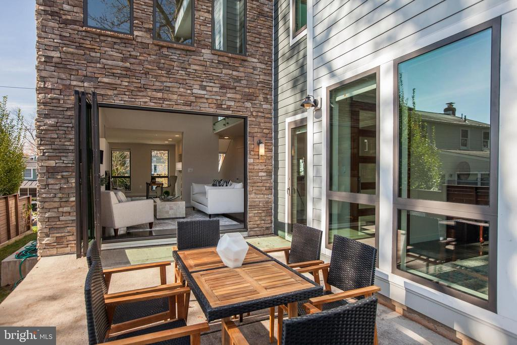 Wonderful patio off Family room - 9927 DICKENS AVE, BETHESDA