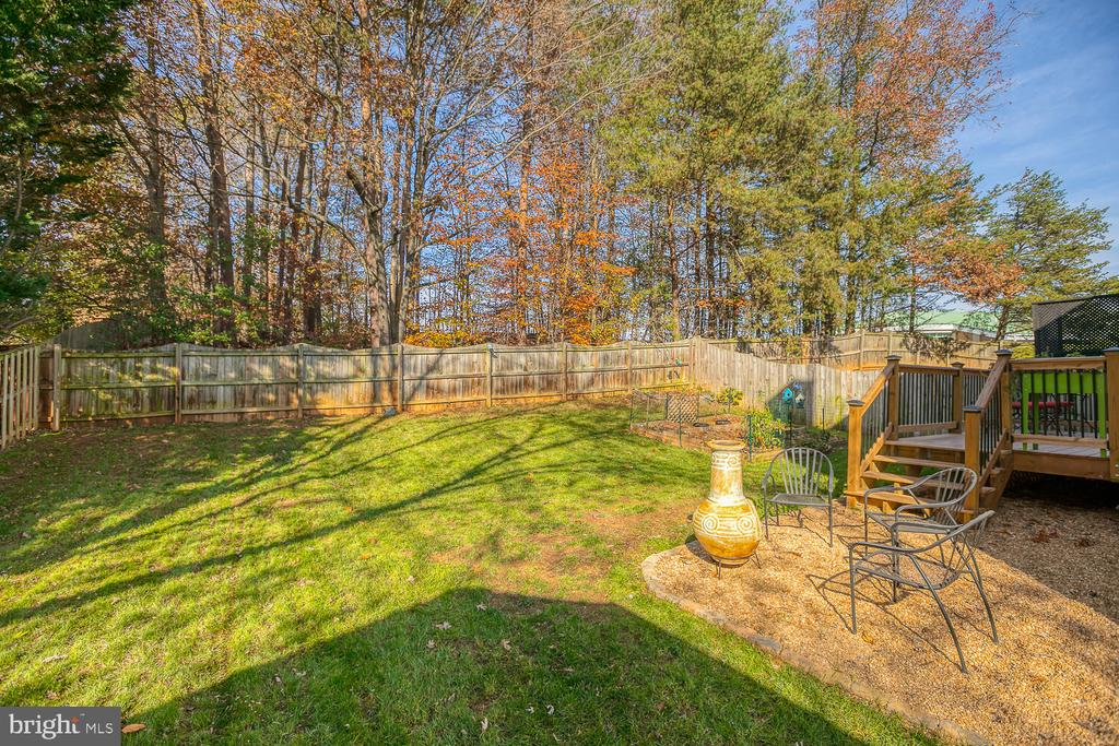 Great outdoor space - 23 CANDLERIDGE CT, STAFFORD
