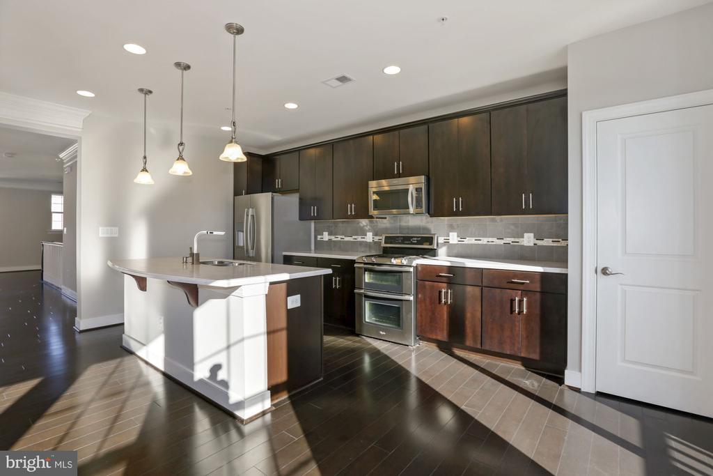 Designer kitchen w/ island and SS appliances - 43976 VAIRA TER, CHANTILLY