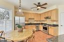 Stainless steel appliances includes gas range. - 47525 SAULTY DR, STERLING
