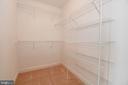 Master walk in closet - 25811 MEWS TER, CHANTILLY