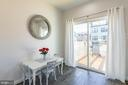 Breakfast nook, office or study space open to deck - 3167 VIRGINIA BLUEBELL CT, FAIRFAX