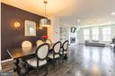 Dining ambiance! Custom lights & accent wall - 3167 VIRGINIA BLUEBELL CT, FAIRFAX