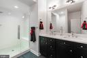 Upgrade: Primary bath double sink quartz vanity - 3167 VIRGINIA BLUEBELL CT, FAIRFAX