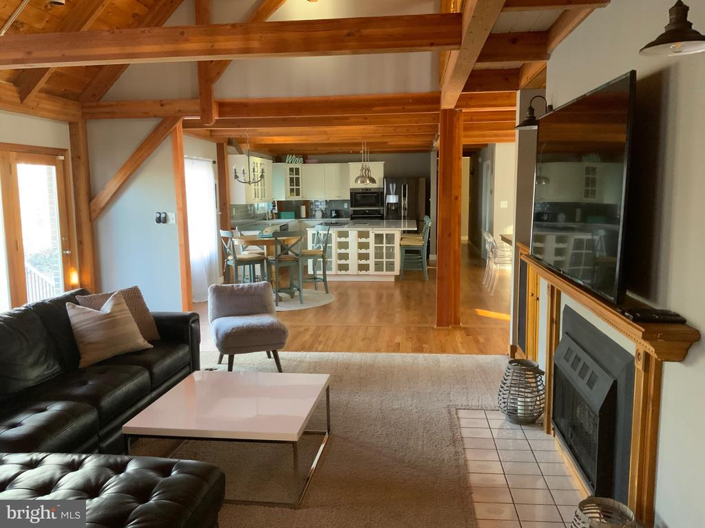 Living Room w/Fp - 6406 CARTER LN, MINERAL