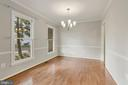 Dining Chandelier, Crown Molding, Chair Railing - 47208 REDBARK PL, STERLING