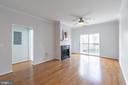 New remote control ceiling fan with light. - 11326 ARISTOTLE DR #4-303, FAIRFAX