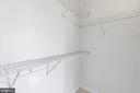 Shelving in bedroom walkin closet - 11326 ARISTOTLE DR #4-303, FAIRFAX