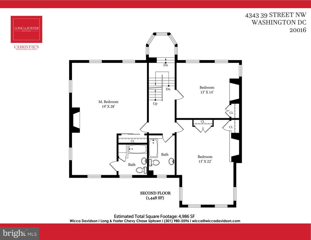 Second floor and alcove - 4343 39TH ST NW, WASHINGTON