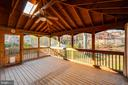 Exquisite screened porch is an extension of home - 10300 WOOD RD, FAIRFAX