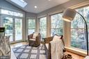 Peaceful sunroom with deck access and skylights - 3412 ALABAMA AVE, ALEXANDRIA