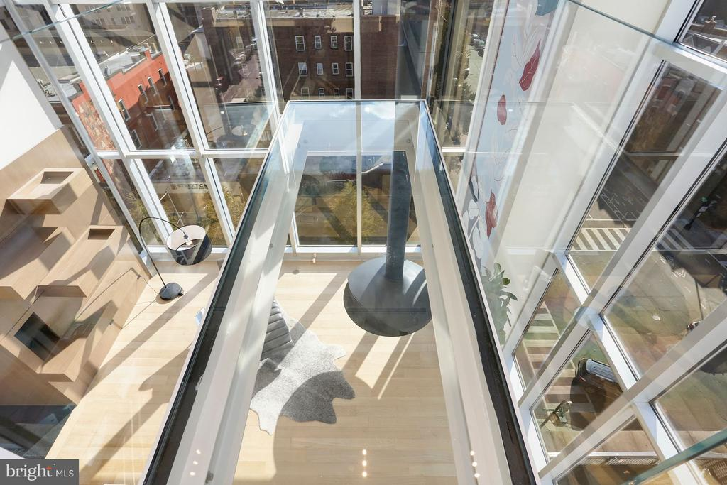 Catwalk also overlooks the living room below - 1515 15TH ST NW #708, WASHINGTON