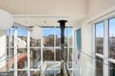 Glass catwalk overlooks with city - 1515 15TH ST NW #708, WASHINGTON