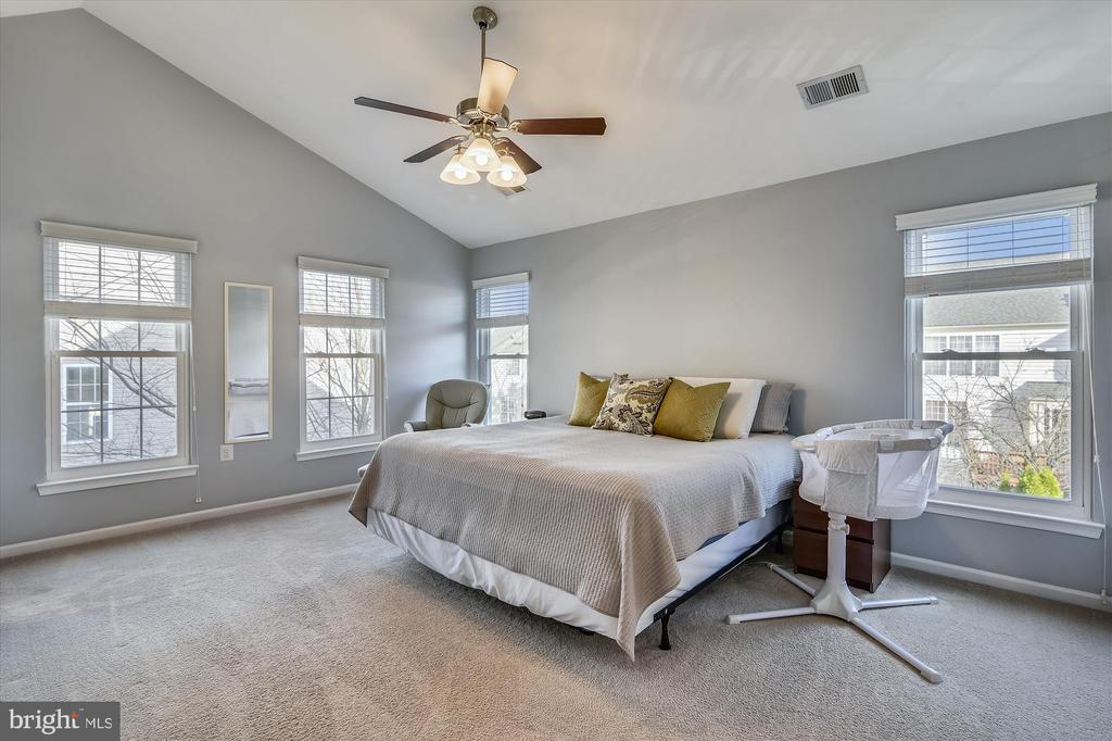 Master bedroom with vaulted ceilings - 20872 DERRYDALE SQ, STERLING