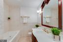Updated, jetted tub hall bathroom - 10300 WOOD RD, FAIRFAX