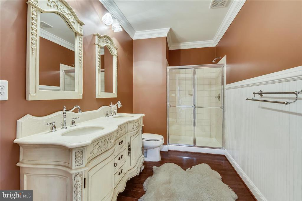 Lower Level Full Bath - 25542 MIMOSA TREE CT, CHANTILLY