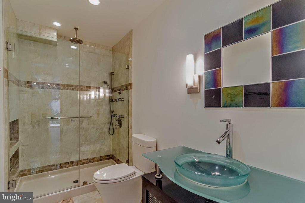 Downstairs bath, spa shower system - 11503 MAPLE RIDGE RD, RESTON