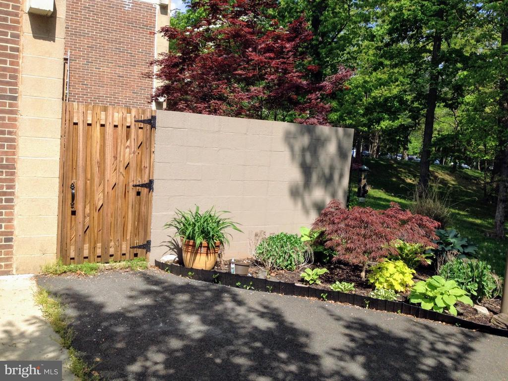 Gate, Trail, and Side Garden - 11503 MAPLE RIDGE RD, RESTON