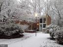 Front View during winter - 11503 MAPLE RIDGE RD, RESTON
