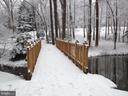 Bridge during the winter - 11503 MAPLE RIDGE RD, RESTON