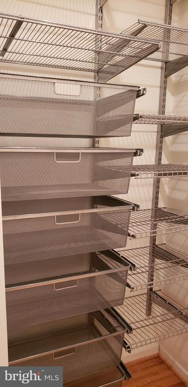 Linen closet organizational system - 11503 MAPLE RIDGE RD, RESTON