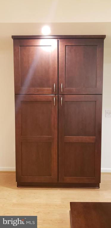 Kitchen pantry solid cherry wood doors - 11503 MAPLE RIDGE RD, RESTON