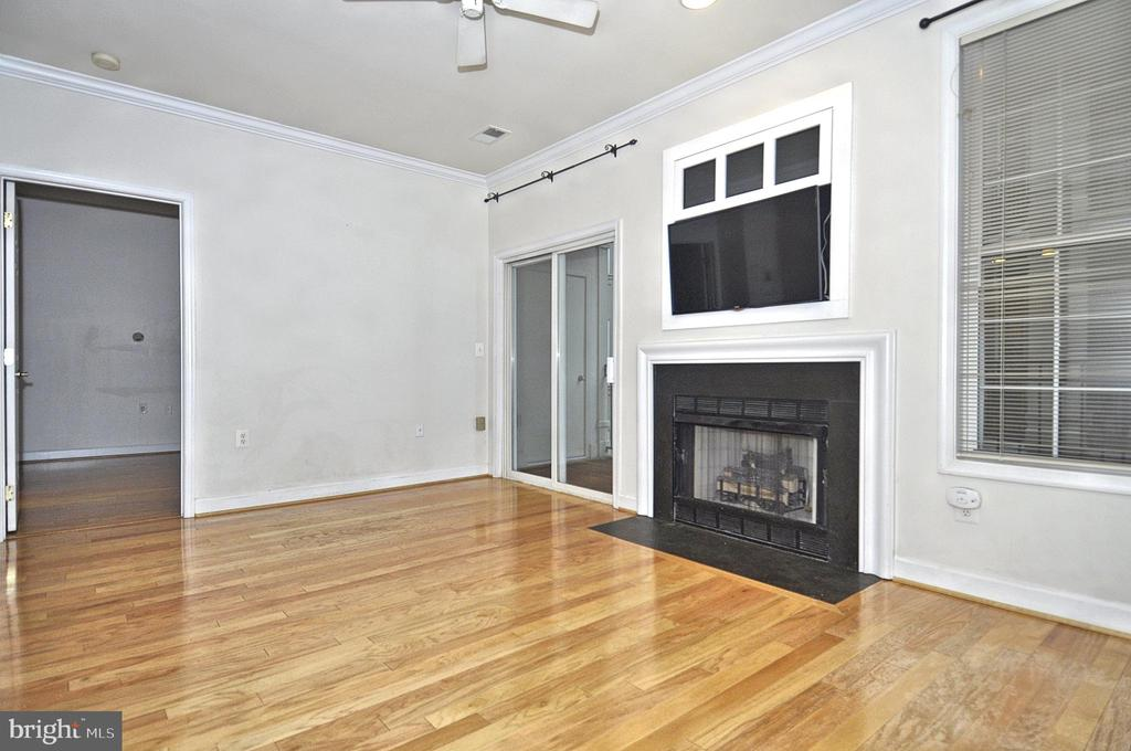 Gas Fireplace and mounted TV - 2310 14TH ST N #205, ARLINGTON
