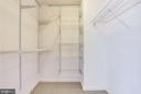Spacious walk in closet - 19385 CYPRESS RIDGE TER #605, LEESBURG