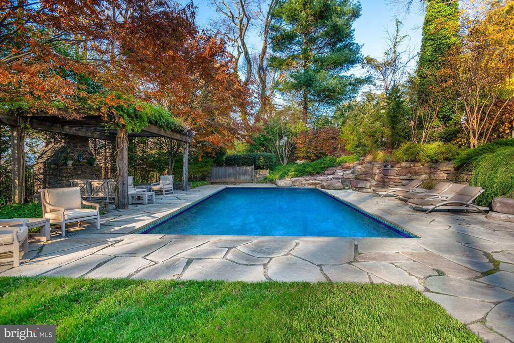 Pool with Stone Waterfall - 6622 MALTA LN, MCLEAN