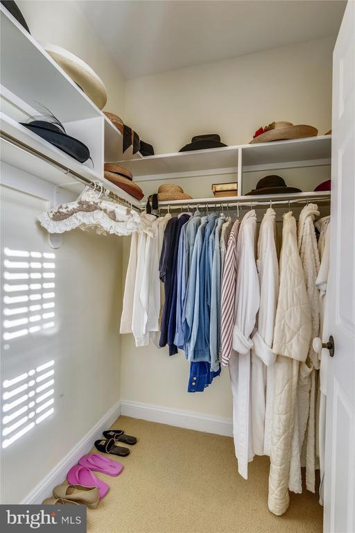 Guest house walk in closet - 22956 CARTERS FARM LN, MIDDLEBURG