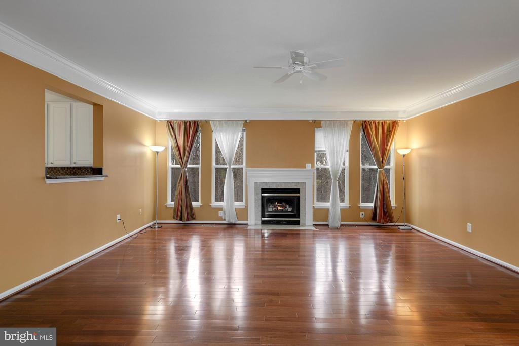 Extended Family Room with Gas Fireplace - 12529 STRATFORD GARDEN DR, SILVER SPRING