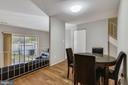Dining area with new wood floors - 333 RENEAU WAY, HERNDON