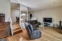 Living room with brand new wood floors!! - 333 RENEAU WAY, HERNDON