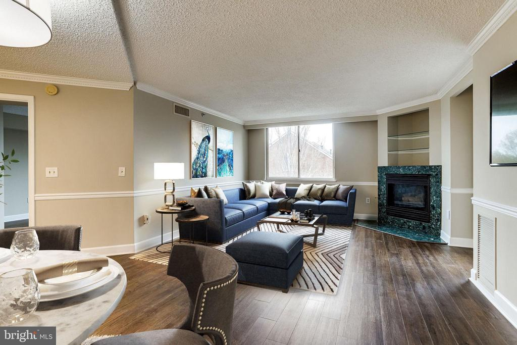 Virtually Staged Living & Dining Rooms - 1276 N WAYNE ST #320, ARLINGTON
