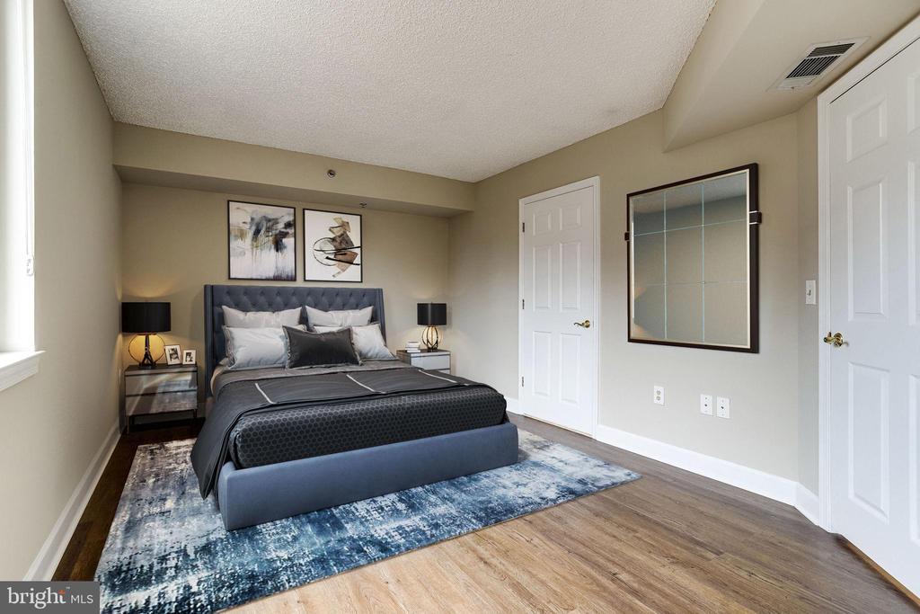 Virtually Staged Primary Bedroom - 1276 N WAYNE ST #320, ARLINGTON