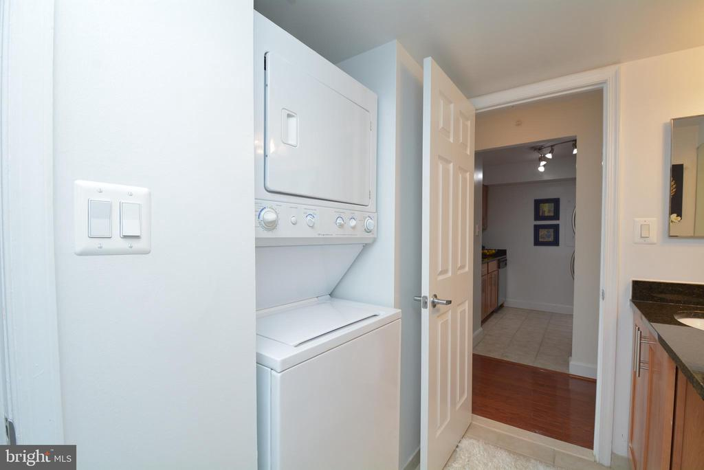 In-unit washer/dryer in the Bathroom - 3401 38TH ST NW #705, WASHINGTON