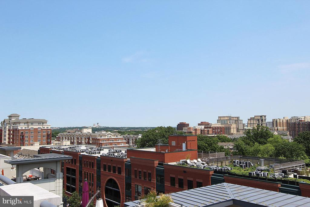 View from the roof top pool - 1021 N GARFIELD ST #828, ARLINGTON