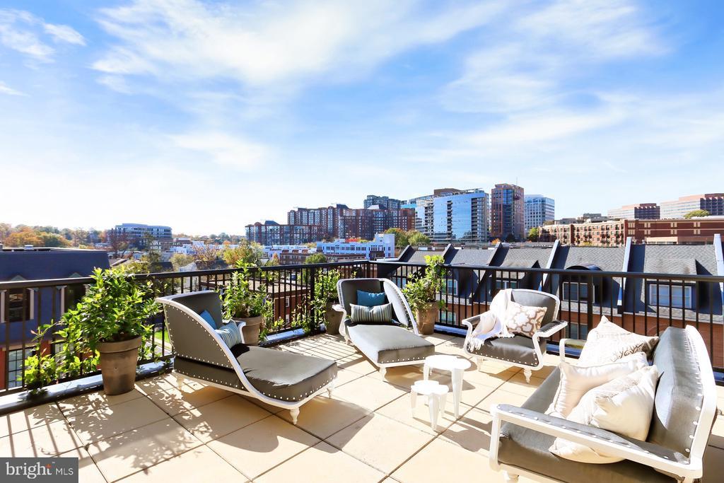 Terrace with a view - 1700 CLARENDON BLVD #158, ARLINGTON