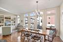 Living/Dining Are opens out to Balcony - 5204 WILLET BRIDGE CT, BETHESDA