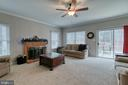Great room with wood burning fireplace - 49 CHRISTOPHER WAY, STAFFORD